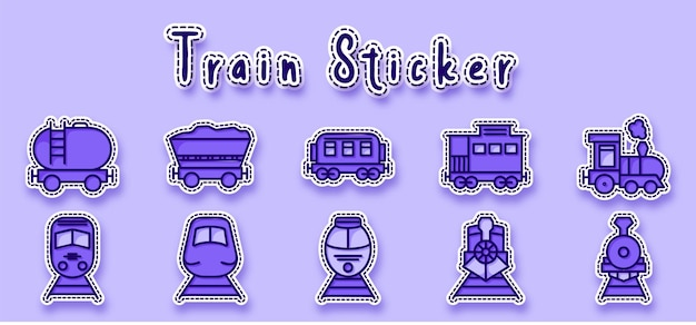 Наклейка со значком линии угольного поезда