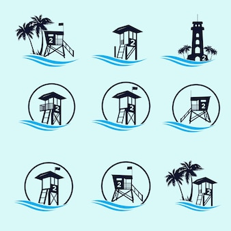Coast guard tower logo bundle