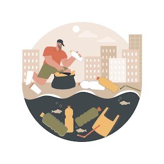 Иллюстрация прибрежного загрязнения