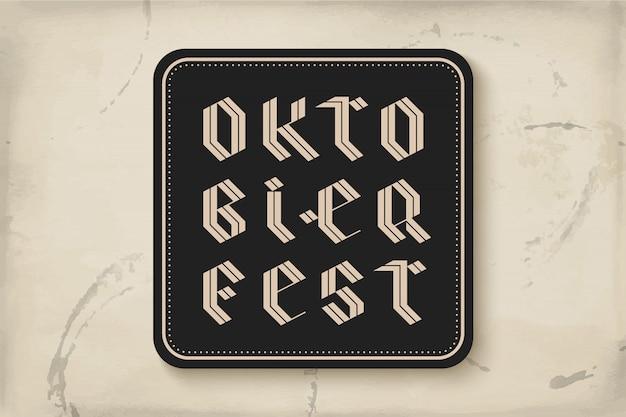 Coaster with lettering for oktoberfest beer festival