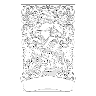 Coat of arms delailed frame