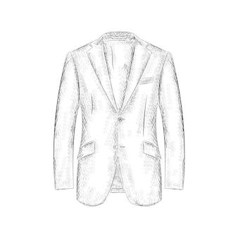 손으로 그린 디자인 코트.