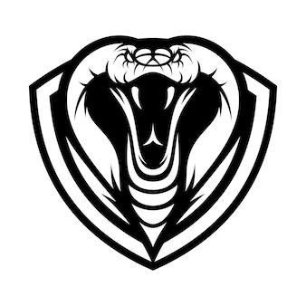 Cobra 동물 스포츠 마스코트 머리 로고 벡터