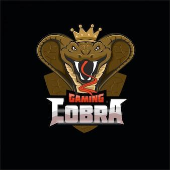 Логотип талисмана игровой киберспортивной команды cobra