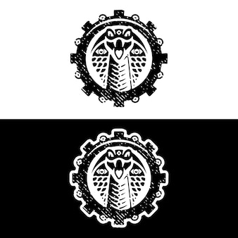 코브라 기어 그런 지 로고 디자인
