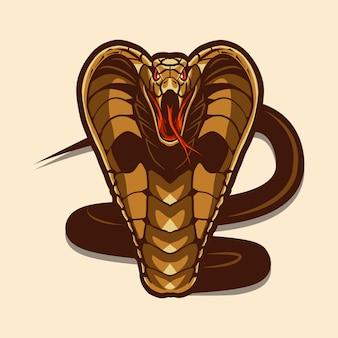 Cobra illustration isolated on light background
