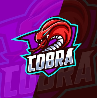 Cobra mascot esport logo design
