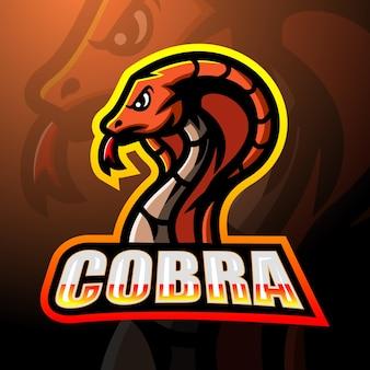 코브라 마스코트 esport 로고 디자인