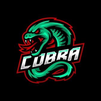 Кобра талисман логотип киберспорт игры