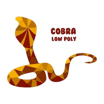 Cobra. polygonal vector illustration isolated on white background. low poly