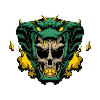 Cobra skull logo illustration