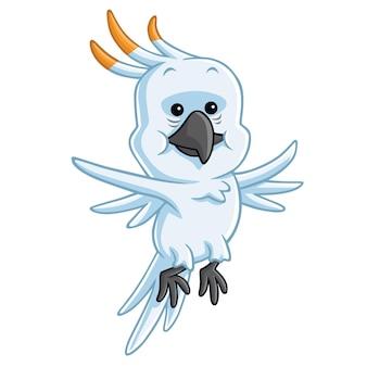 Cockatoo cartoon mascot vector illustration character design