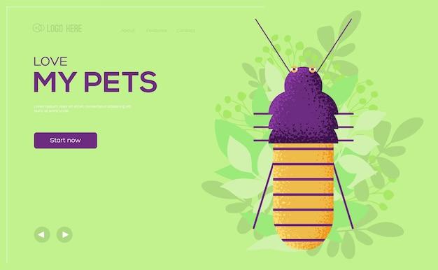 Cockroach concept flyer, web banner, ui header, enter site. .