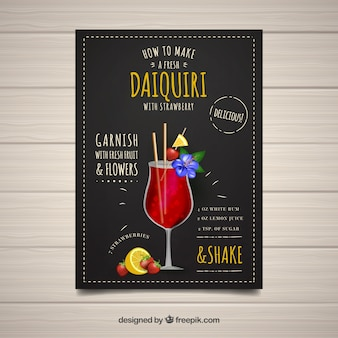 Cocktail booklet with daiquiri