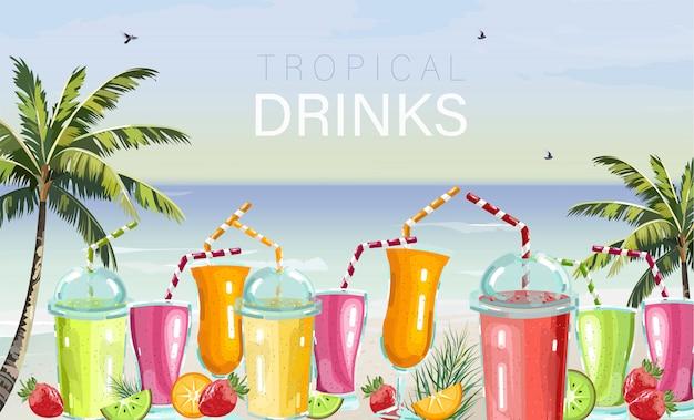 Cocktail drinks set
