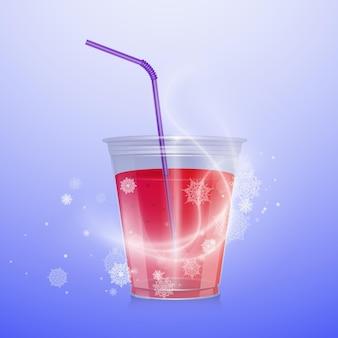 Коктейль бокал напитка с трубочкой