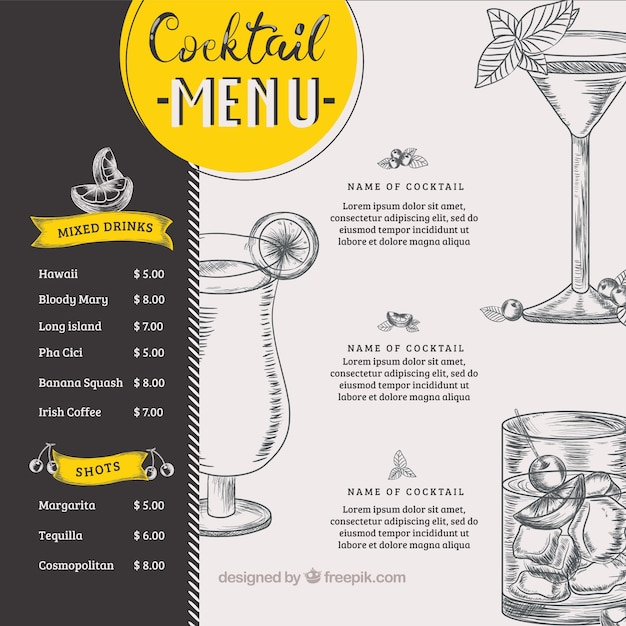 photograph regarding Free Printable Drink Menu Template referred to as Beverages Menu Vectors, Pics and PSD data files Totally free Down load