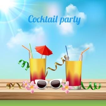 Празднование коктейльной вечеринки