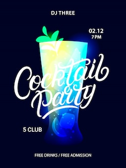 Cocktail party poster.