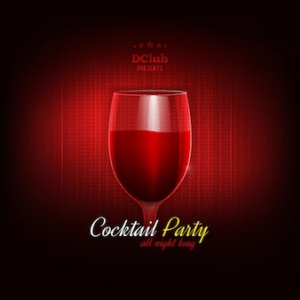 Cocktail party vector invitation