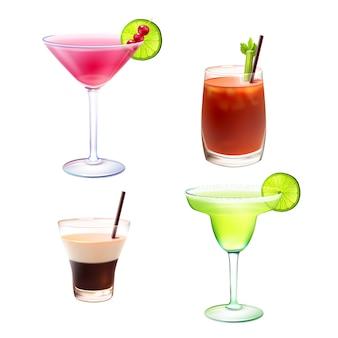Cocktail set realistico