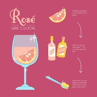 Концепция рецепта коктейля