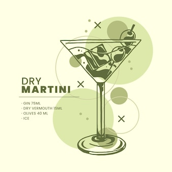 Cocktail recipe concept