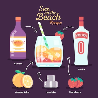 Cocktail recipe for sex on the beach