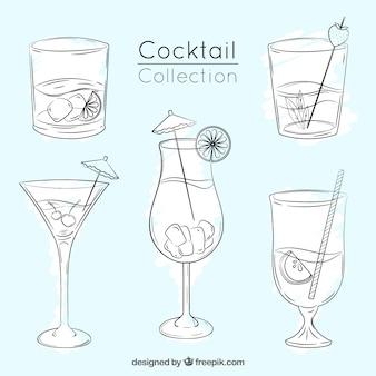 Набор эскизов коктейлей