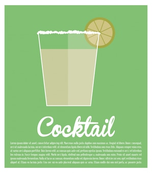 Cocktail tequila lime poster