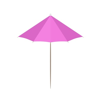 Cocktail umbrella in a flat style. cocktail umbrella icon. isolated