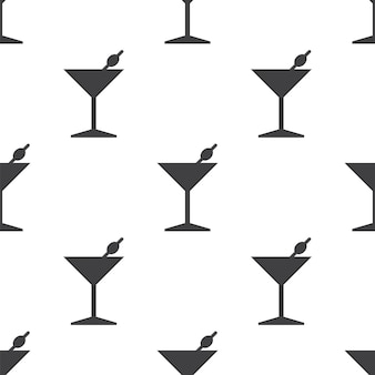Cocktail, vector seamless pattern, editable can be used for web page backgrounds, pattern fills