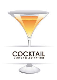 Cocktail over white