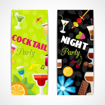 Cocktails banner vertical