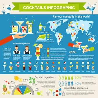 Cocktails consumption infographic presentation