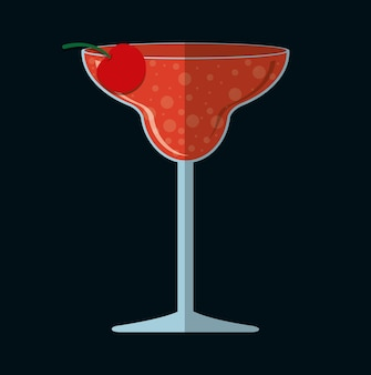 Cocktails cup glass design