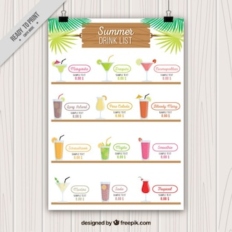 Cocktails poster template