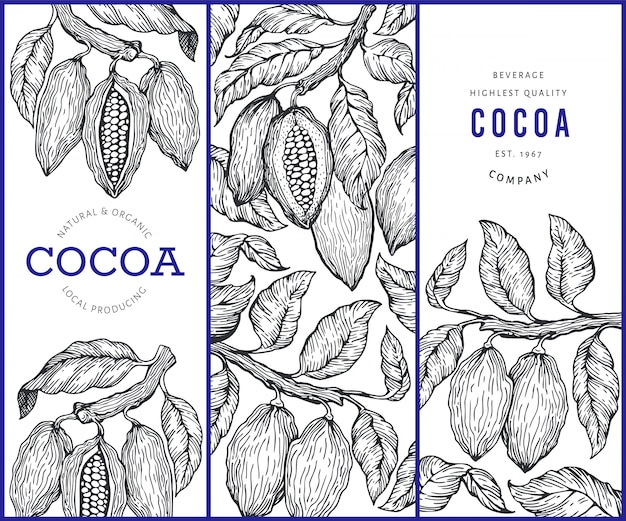 Cocoa banners set.
