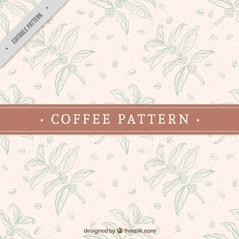 Cocoa decorative pattern