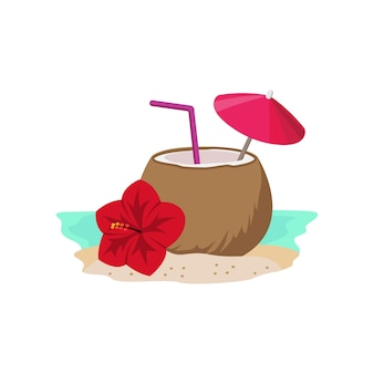 ココナッツカクテルと花