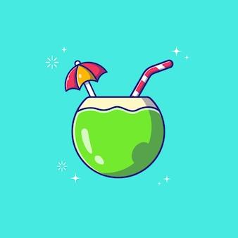 코코넛 칵테일 플랫 절연입니다.