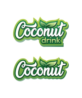 Coconut drink logo