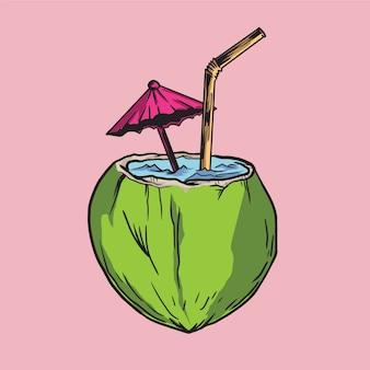 Coconut illustration
