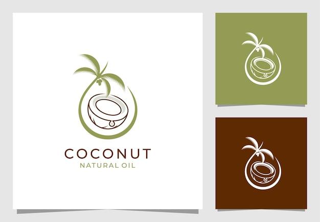 Кокосовый лист дизайн логотипа