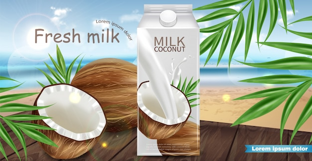 Coconut milk mock up