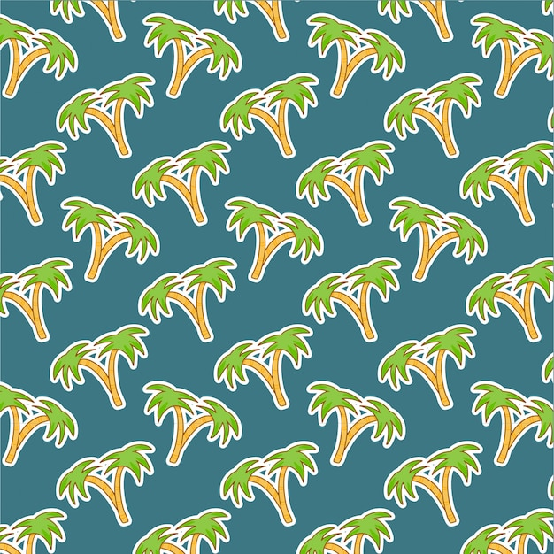 緑のココナッツの木のパターン