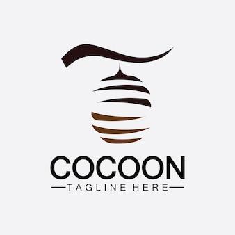 Cocoon logo vector illustration design template