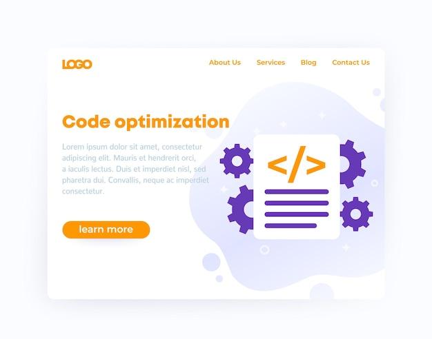 Code optimization, website template design, vector