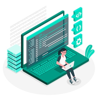 Coding concept illustration