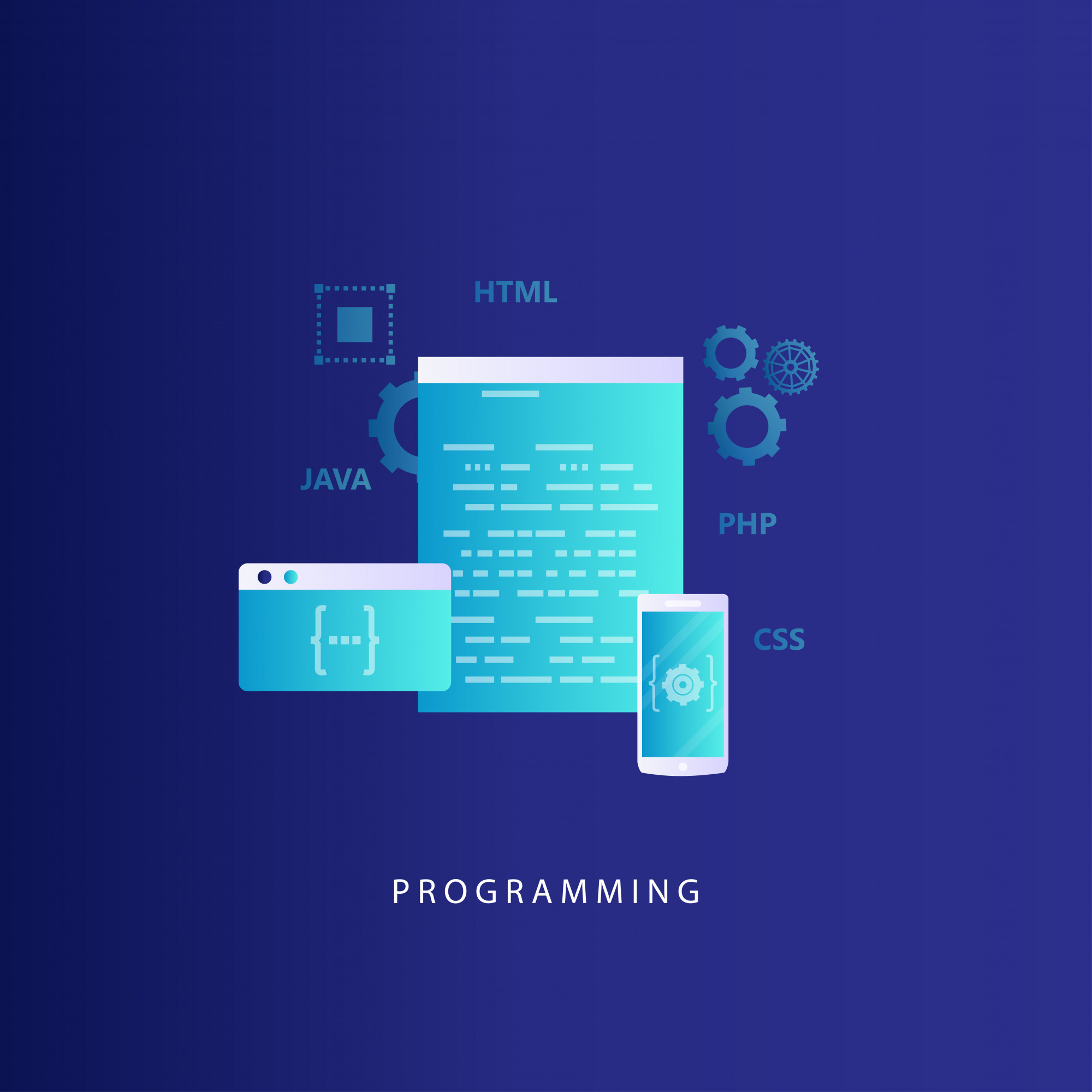 Coding, programming, website and application development